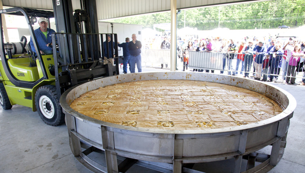 The giant apple pie will make its anticipated return to the seventh annual Celebrate Hoover Day May 3 from 10 a.m. to 2 p.m. at Veterans Park. The event is free. (Contributed)