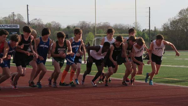 The Thompson Warriors track teams took the Shelby County track and field championship held April 3 at Pelham High School. (Contributed)