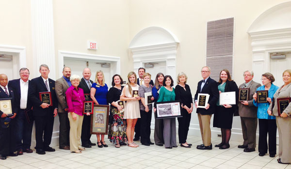 The Montevallo Chamber of Commerce 2014 Citizens' Night award winners (Ginny Cooper/For the Reporter).