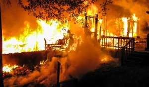 The First Battalion of Shelby County responded to a blaze on April 20 (contributed).