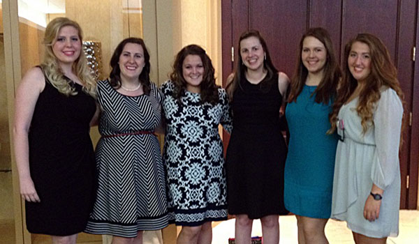 From left to right: Hannah Bell, Abigail Bradley, Molly Dean, Jenny Bell, Camille Weeks and Brikley Jones (contributed)