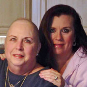 Carol Horn Shurbet and daughter Kelli Shurbet Gilmer after chemo treatments for pancreatic cancer. (Contributed)