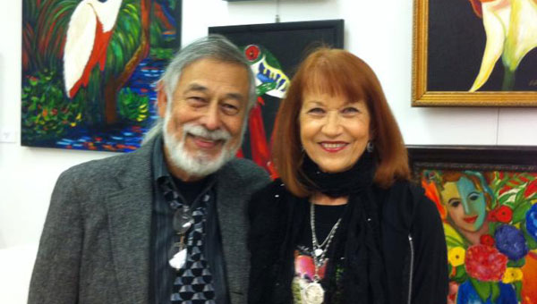 Artists Jerry Roldan and Edna Sealy are known for their work at the Shelby County Arts Council, are pictured at the SCAC gallery in Mildred Street in Columbiana. They will bring art to Music on Main on May 23. Roldan will paint the Shelby County Old Courthouse during the show and Sealy will have painting crafts for children. (Contributed)