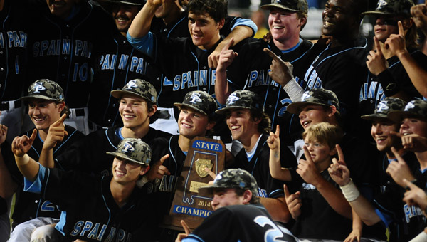 Spain Park's trophy in baseball marked the end of the high school sports season —but it'll be back before you know it. (Reporter Photo/Jon Goering)