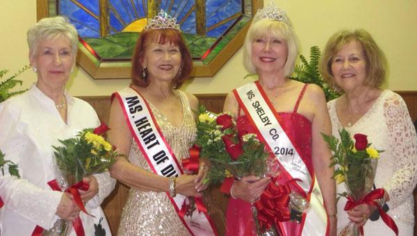 1st Alternate Elise Hearn, Ms. Senior Heart of Dixie Edna Sealy, Ms. Senior Shelby County Ellen Brake and Ms. Congeniality Rita Schwarz. (Contributed)