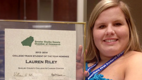 Lauren York Riley was chosen as one of nine Star Students in Shelby County. (Contributed)