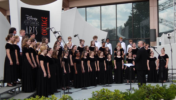 The Helena Middle School choir performed a special six-piece program at the Melody Gardens Theater in Walt Disney World's EPCOT on April 25. (Contributed)