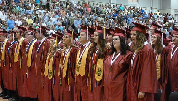 Shelby County High School held its graduation at the University of Montevallo on May 22. (Contributed)