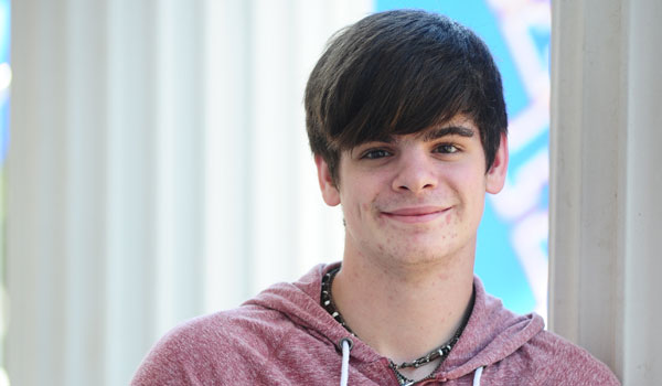 Austin Spears is very involved in theater programs at Montevallo High School and in the community. (Reporter Photo/Jon Goering)