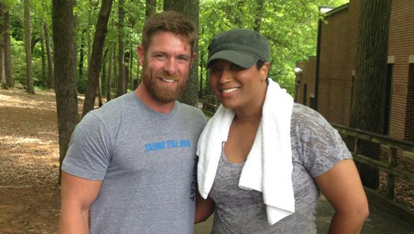 """Alabaster YMCA trainer and fitness enthusiast Noah Galloway, left, has entered a contest put on by the magazine in a partnership with Kenneth Cole to find the """"Ultimate Men's Health Guy,"""" to appear on the cover of the magazine. (Contributed)"""