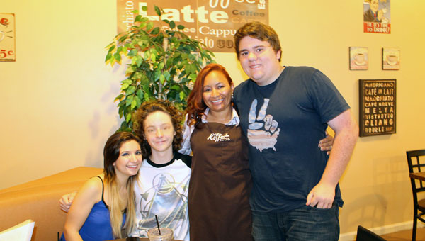 Sarah Sansom, Jude Agan, Kai Smith and Casey Brooks at Kai's Coffee in Pelham. (Contributed)