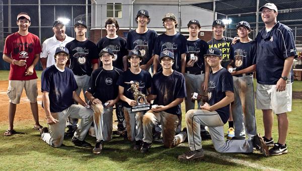 The Oak Mountain 14U baseball squad. (Contributed)