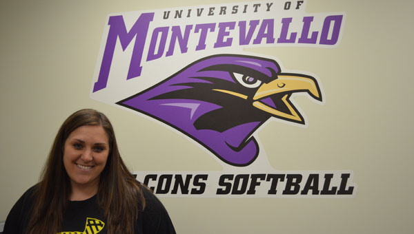 The first head softball coach for the University of Montevallo Falcons, Lindsay Vanover. (Contributed)