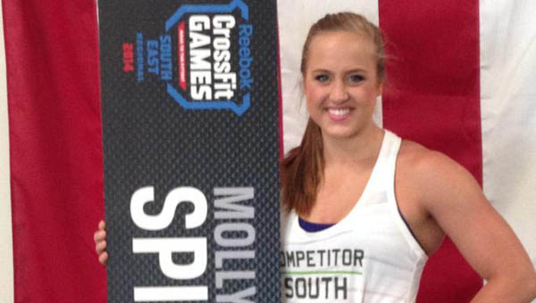 Alabaster native Molly Spicer recently wrapped up a trip to the CrossFit SouthEast Regional games in Jacksonville, Fla., where she finished 27th out of 39 competitors in her first attempt at competing. (Contributed)
