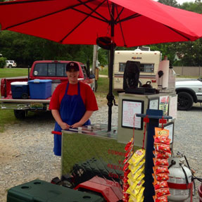 """Miss """"Ruthie"""" operates Hot Dog on Wheels in Wilsonville. (Contributed)"""