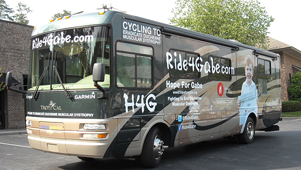 The Ride4Gabe will cross the country to help combat eradicate duchenne muscular dystrophy. (Contributed)