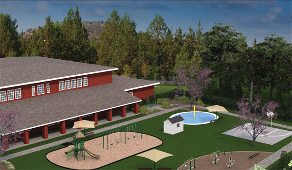 If they win the contest, SafeHouse Executive Director Erin Bodden plans to use some of the funds for fruit trees to shade a recently constructed playground. (Contributed)