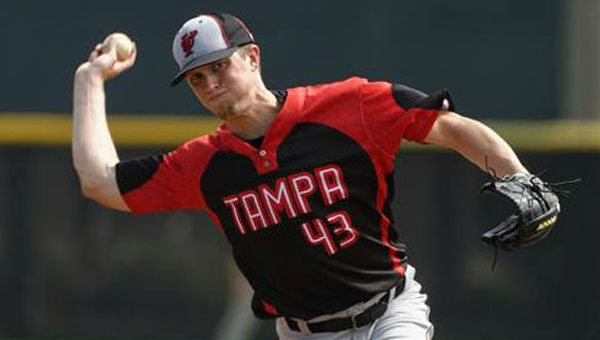 Shelby County High alum Kevin McNorton transferred to the University of Tampa for his senior season, a program with six national championships in baseball since 1992 at the NCAA Division II level, and three since 2006. (Contributed/Todd Montgomery)