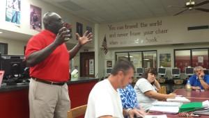 Thompson head football coach Michael Montgomery.