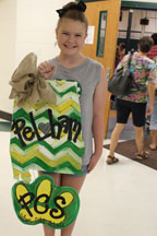 Kaitlyn Gailey, a rising seventh grader who accompanied her sister, Allison Gailey, to PHS registration. (Contributed)