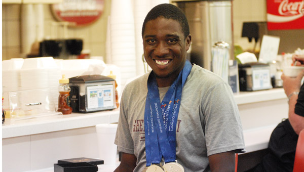 Columbiana native Mario Youngblood took home two gold medals at the 2014 Special Olympics USA Games June 14-21. (Reporter Photo/Drew Granthum)