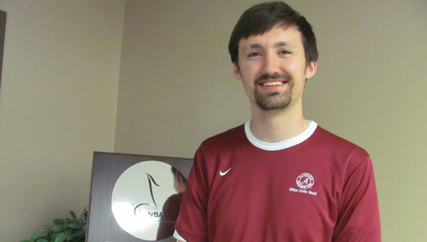 Justin White is the new assistant band director at Thompson High School. (Contributed)