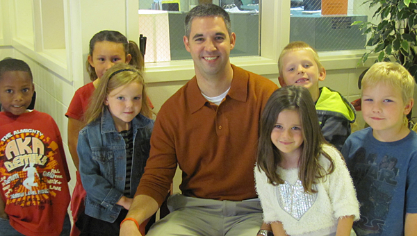Former CVES Principal Brent Byars, center, is moving to Thompson Intermediate School for the upcoming school year. (File)