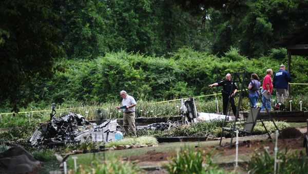Law enforcement officals confirmed a plane crashed injuring four in the 4300 block of South Shades Crest Road in Helena around 1:56 p.m. on July 31. (Reporter Photo / Jon Goering)
