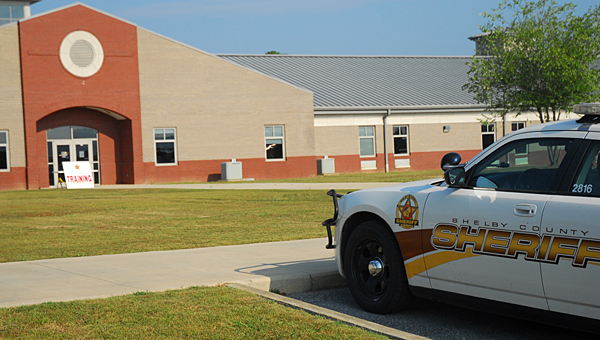 Shelby County Sheriff's Office deputies joined Alabaster police officers and ACS personnel to train for a worst-case scenario at Thompson Middle School on July 14. (Reporter Photo/Neal Wagner)