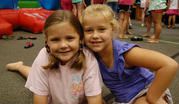 Myla Hale and Addie Smith will both be attending kindergarten in the fall (Reporter Photo / Ginny Cooper McCarley)