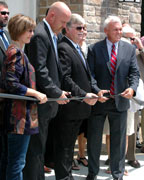 Helena and Shelby County School System leaders cut the ribbon on the new Helena High School on Aug. 3. (Contributed)