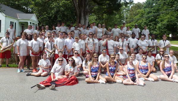 The Pride of Shelby County, the SCHS Marching Band will play Aug. 13 at 6:30 p.m. at Music on Main sponsored by the SCHS Alumni Association. (Contributed)