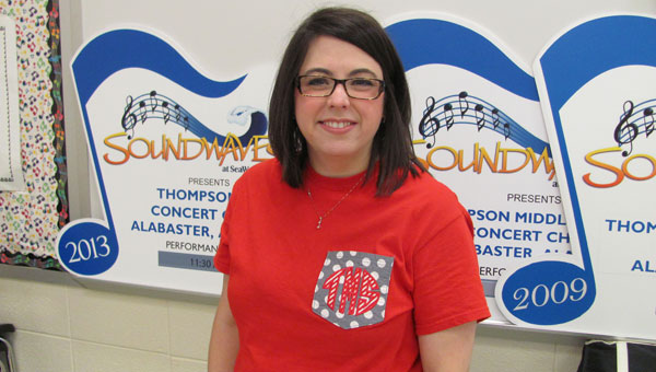 Lauren McKenzie is the new assistant choir director at Thompson Middle School. (Contributed)