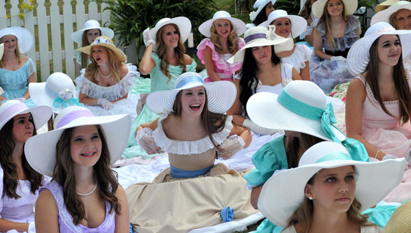 Photographed at the recent Helena Belle Garden Party were: Belles Haley Rogers, Victoria Turner, Kylie Pritchard, Tiffany Hogue, Marianna Stamba, Kayla Dubberly, Caitlin Cook, Carly Atkisson, Allie Lott, Anna-Marie Smith and Macie Frederick. (Contributed)