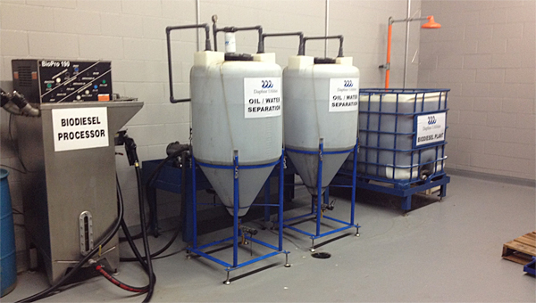 Alabaster is considering a biodiesel and grease recycling program modeled after the city of Daphne's facility pictured. (Contributed)
