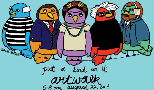 """""""Artsqawk: Put a Bird on It"""" will be in downtown Montevallo on Friday, August 22 from 5 p.m. to 8 p.m."""