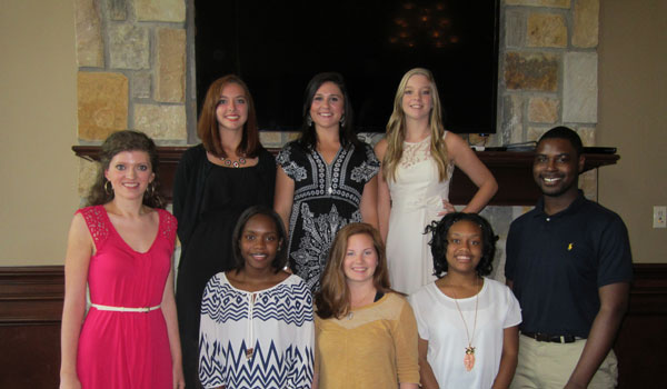 The eight members of the Calera Chamber of Junior Chamber were announced during the Aug. 12 luncheon (Reporter Photo/Ginny Cooper McCarley)