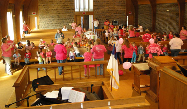 South Shelby Baptist Learning Center held a special worship service in recognition of Calera Goes Pink. (File)