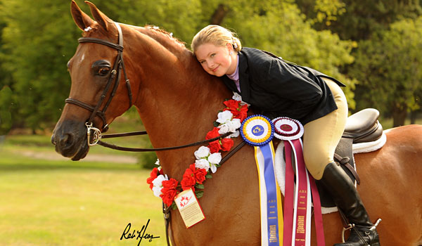 Olivia Powers with her horse, GWF Valentino. (Contributed)