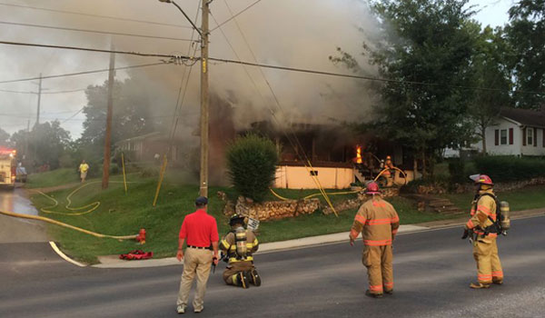 The Montevallo Fire Department and the First Battalion of Shelby County responded to a fire on Aug. 19. (Contributed)