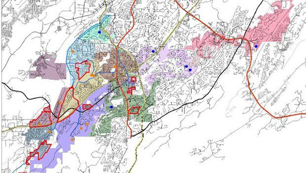 Here is a map of the proposed rezoning plan Hoover plans to vote on Oct. 6