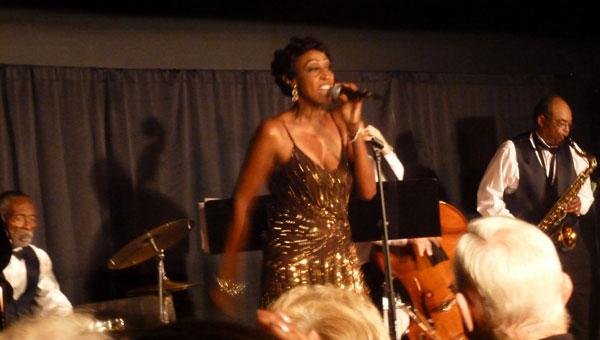B  J. Reed performs as Tuscaloosa native Dinah Washington at the SCAC Black Box Theater. (Contributed)