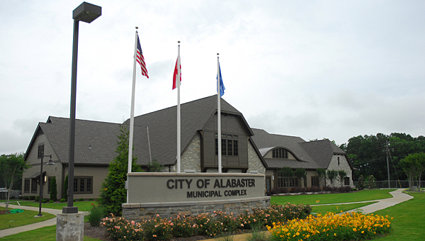 Alabaster police and firefighters responded to a small fire outside Alabaster City Hall on Dec. 11. (File)