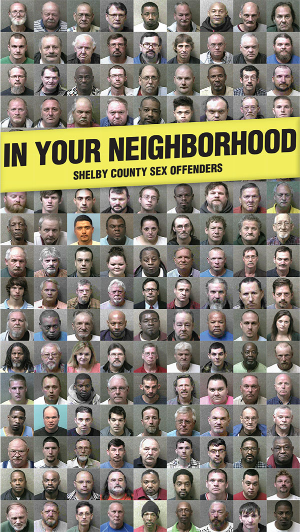 For a map and list of all sex offender on the Shelby County public registry, turn to page 7A of the Sept. 24 edition of the Shelby County Reporter.