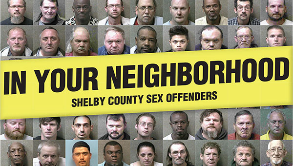 For a map and list of all sex offender on the Shelby County public registry, turn to page 7A of the Sept. 24 edition of the Shelby County Reporter. (Illustration / Jamie Dawkins)