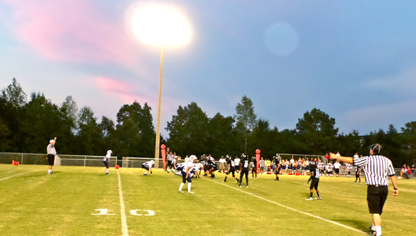 The Helena Huskies 4th grade youth football team took on Oak Mountain on Sept. 9 for their first game on the new Helena youth football field. (Reporter Photo / Molly Davidson)