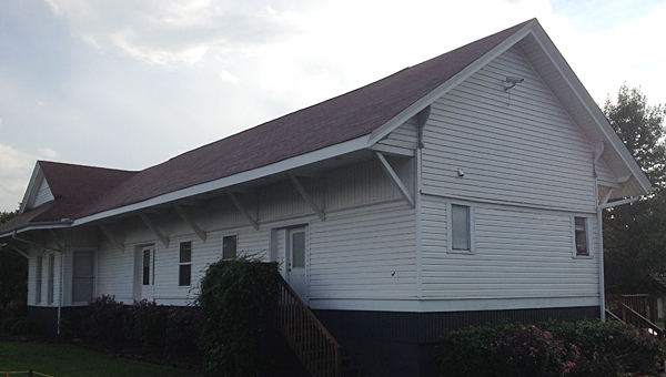 Alabaster's depot building off Thompson Road will house administrative offices for Big Brothers Big Sisters of Central Alabama for the next year. (Reporter Photo/Neal Wagner)