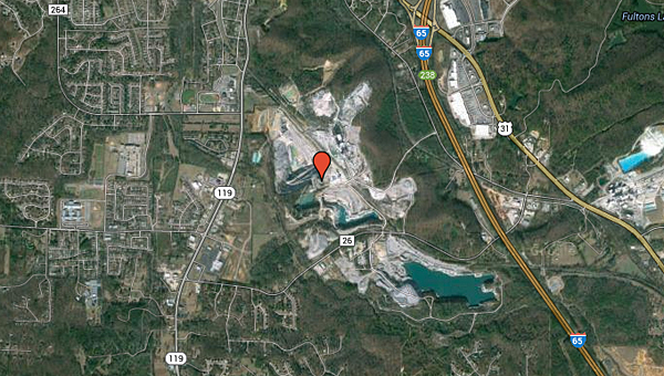 Alabaster leaders considered constructing a domed stadium in what was then an abandoned quarry off Fulton Springs Road. The quarry currently is active. (Contributed)