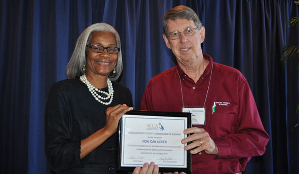 Shelby County Commissioner Dan Acker was honored by the Association of County Commissioners of Alabama. (Contributed).