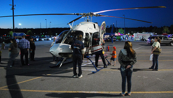The LifeFlight Helicopter was one of the big attractions at Chelsea's National Night Out. (Reporter Photo/Graham Brooks)